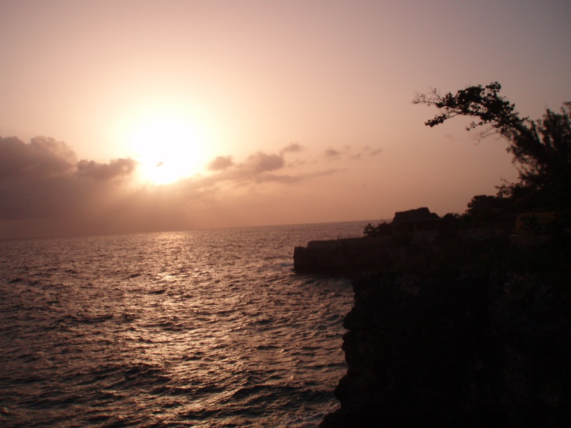sunset in negril