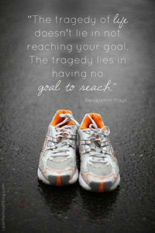 have a goal and reach that puppy