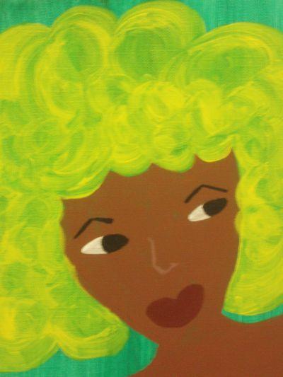 Peaches, acrylic on canvas (2006)